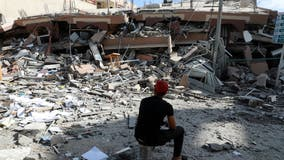 2 killed in strike launched from Gaza as Israel topples 6-story building