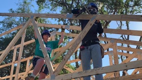 Volunteers help single mother build dream home during Habitat for Humanity's 'Women Build' construction blitz