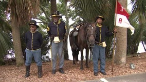 'Setting our nation on the right path': Buffalo Soldier reenactors commemorate Florida's Emancipation Day