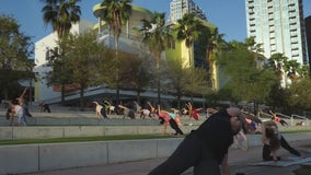 Workout for free in downtown Tampa