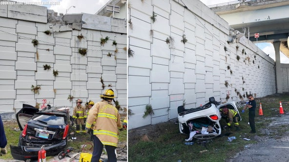 Cars fall off same Florida highway ramp for 2nd time in 2 days