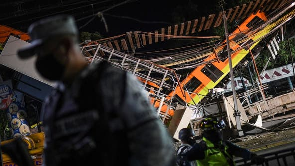 Mexico City metro overpass collapses onto road, killing at least 23