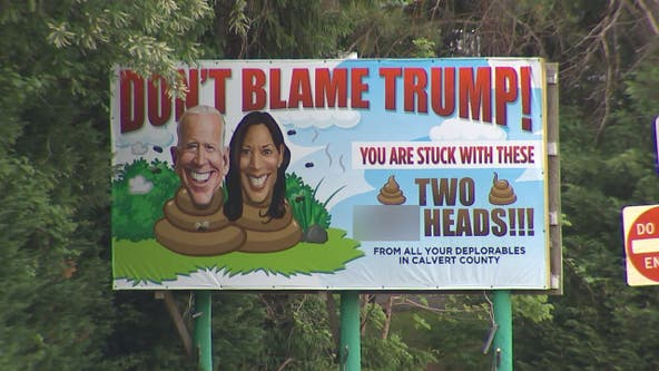 Controversial billboard in Calvert County causing a stir