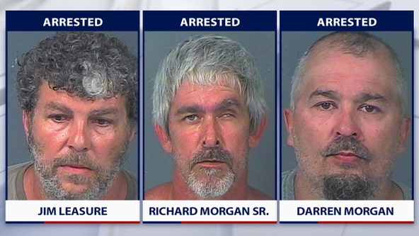 3 arrested after victim spots men fishing from stolen boat on lake near home, deputies say