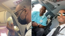 Pilot makes tearful announcement about VIP dad aboard his plane