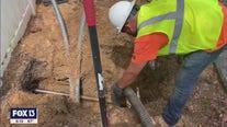 Crews get started burying power lines