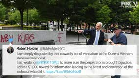 NYPD: Vandals 'desecrated' Vietnam memorial in Queens