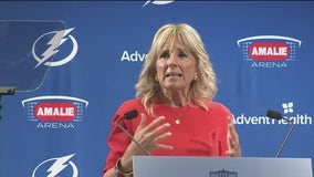 First Lady Jill Biden joins Tampa Bay Lightning for 'Shots on Ice' COVID vaccine event
