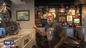 Raw: Paul Teutul Sr. gives a tour of the new OCC Roadhouse