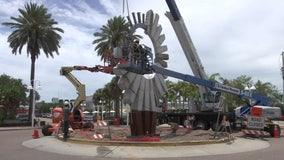 $200,000 sculpture under construction in St. Pete's Edge District