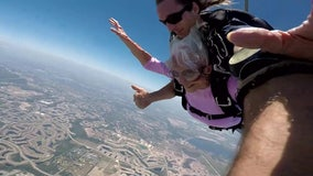 'I want to skydive': Venice grandmother, 96, takes leap of faith in honor of late grandson