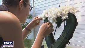 Floral artists create wreaths in memory of Pulse victims