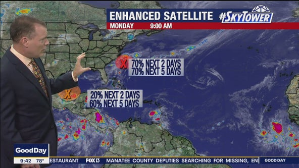 Season's second tropical depression forms as forecasters watch two other areas of interest