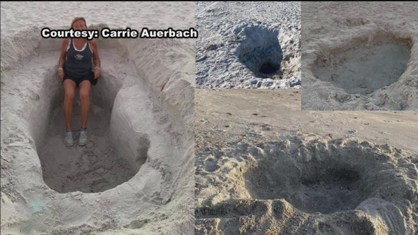 Huge holes causing concern along Pinellas County beaches