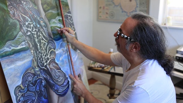 Artist inspired by Salvador Dali uses computer-generated math patterns to create 3D modern art