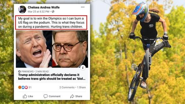 US Olympic athlete Chelsea Wolfe threatened to burn flag on podium if she won medal
