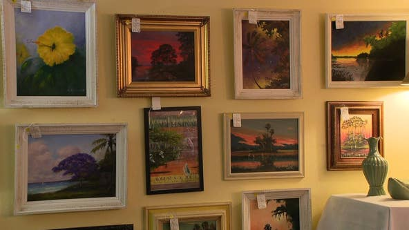Famous Florida Highwaymen paintings up for sale at estate sale