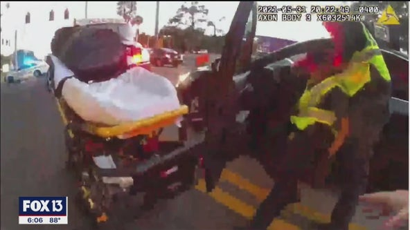 Paramedics disarm man they say went from passed out to pulling a gun