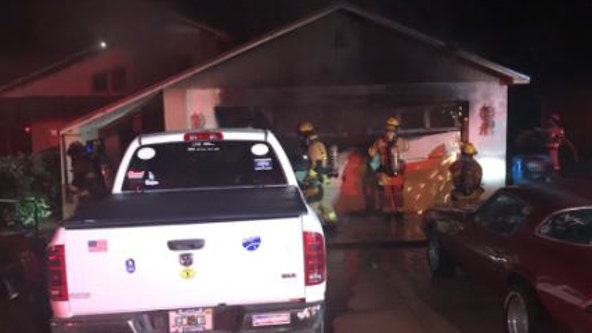 Springhill man wakes up to flames, gathers family, escapes house fire