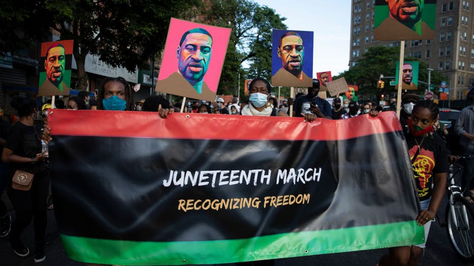 fcdac9e4-Juneteenth Marked With Celebrations And Marches In Cities Across America