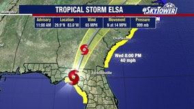Tropical Storm Elsa makes landfall north of Tampa Bay; risk of flooding, storm surge remains