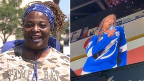 Lightning national anthem singer moved to ICU after being hospitalized with COVID-19, husband says