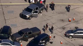 2 Baltimore police officers shot outside shopping center; suspect dead