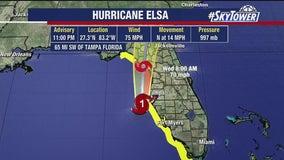 Elsa regains hurricane strength ahead of Florida landfall