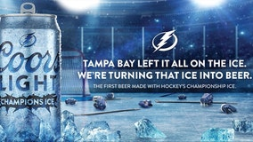 Amalie Arena ice shavings from Stanley Cup Final brewed into beer, served at select Tampa bars today