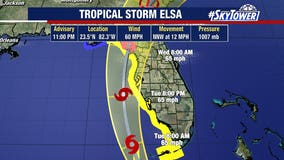 Tropical Storm Elsa weakens over Cuba but warnings issued for Florida