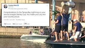 President offers congratulations as city details Lightning boat parade plans