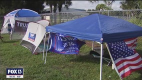 Supporters gather in Sarasota ahead of former president's Saturday rally