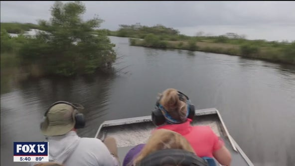 Untouched areas of Florida only accessible by airboat
