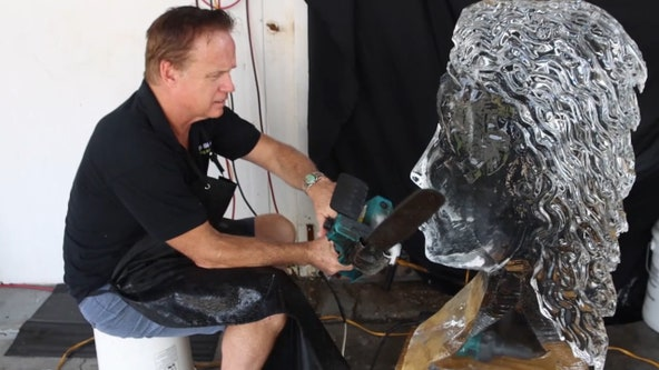 Tampa ice sculptor has coolest job during hot summer days