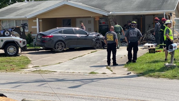 Car crashes into Pasco home, injures dog for second time in less than one year