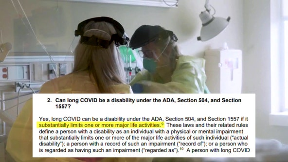 Long-haul COVID-19 now considered a disability