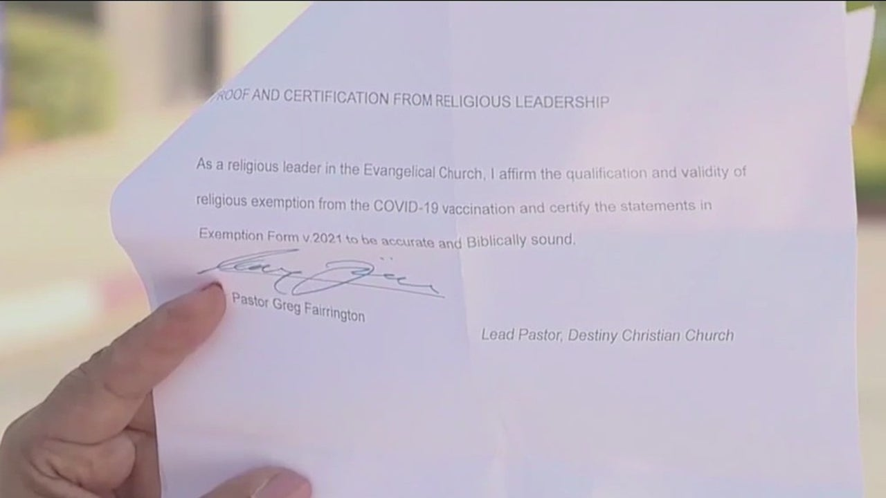 California pastor giving out COVID vaccine 'exemption letters'