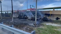 Fuel tanker explodes after driving off South Florida highway ramp