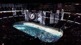 Tampa Bay Lightning's season-opener begins with Stanley Cup championship banner-raising ceremony