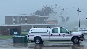 Hurricane Ida rips part of roof off of Louisiana hospital