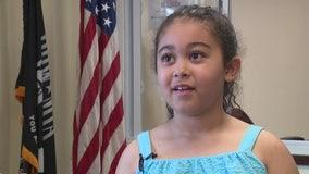 Marietta girl raises hundreds of dollars to help homeless veterans