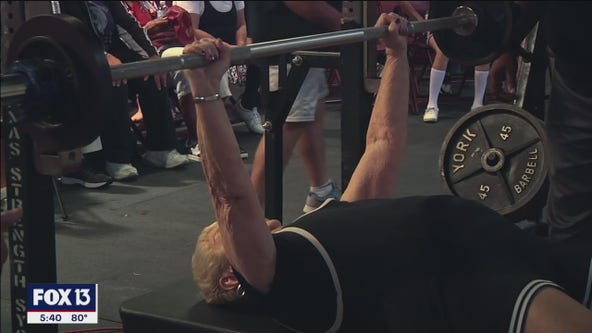 100-year-old woman deadlifts 165 pounds
