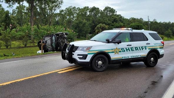 Polk deputies: Teen driver crashes after swerving to avoid hitting bird in road; passenger dies