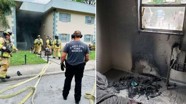 Child playing with lighter causes apartment fire in Lakeland
