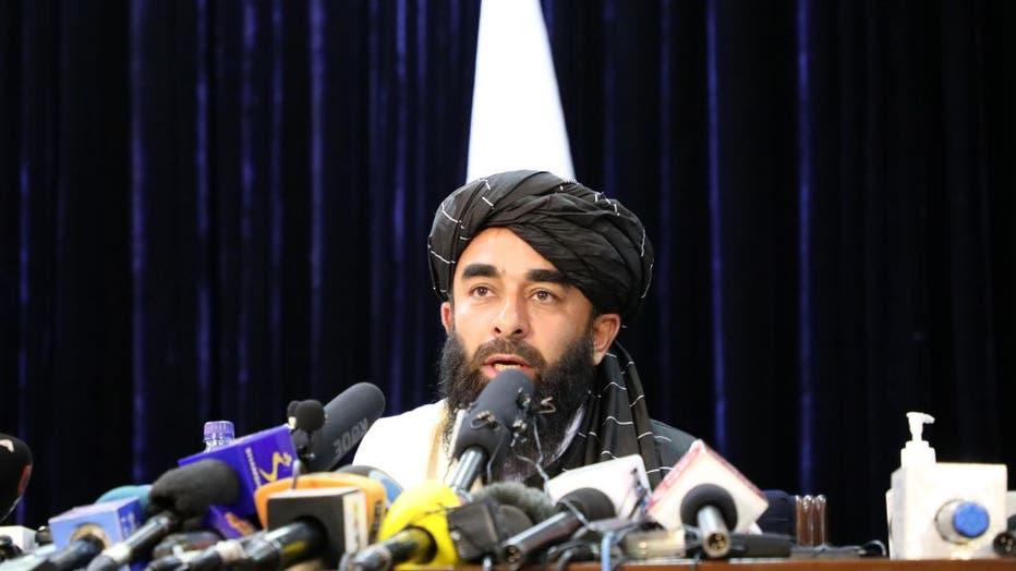 Taliban spokesperson Zabihullah Mujahid holds press conferenceâââââââ