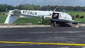 Small plane flips after emergency landing at Venice golf course