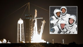 First all-private crew rockets into space on mission of 'Inspiration'