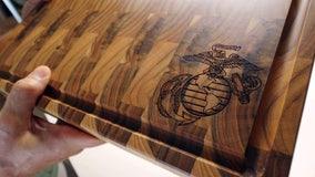 From Riverview garage, veteran crafts unique teak gifts