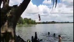 Tempers flare around Winter Haven after popular Lake Eloise rope swing vanishes