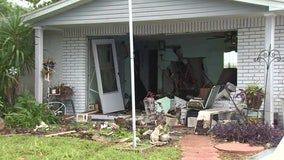 Neighbor loses control of pickup truck, plows into Port Richey home across the street